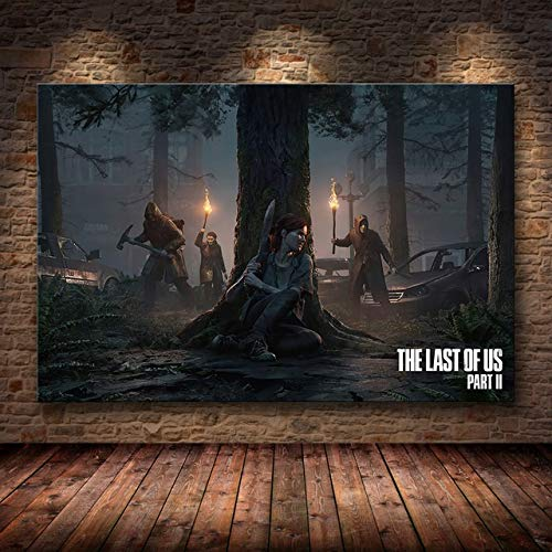 Mode Leinwand Malerei The Last of Us Spiel Plakat-Druck Zombie Survival Horror Action-HD Poster Malerei Home Decor for Wand-Kunst (Color : 42, Size (Inch) : 50cmX75cm(No Frame))