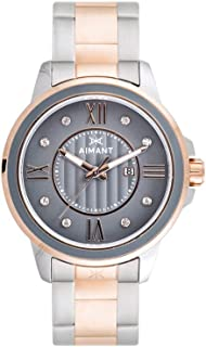 Women's Watch Sydney Rose Gold and Grey with Silver and Rose Gold Stainless Steel Bracelet LSY-170SSRG-8RG