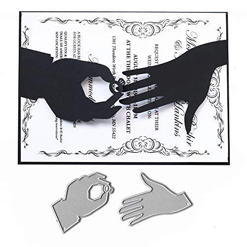 Ponnen Verlobungsring Finger Stanzbögen Stanzschablonen Scrapbooking Stanzmaschine Stanzformen für Scrapbooking Kartenbasteln Album Papier Dekor
