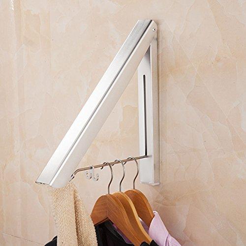 Perchero plegable de pared, ahorra espacio, resistente a la intemperie, percha de...