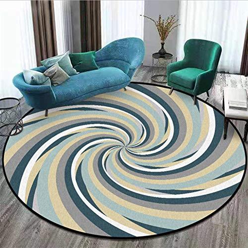 ANBAI Slaapkamer tapijt geel grijs swirl patroon ronde tapijt woonkamer tapijt woonkamer eettafel accessoires