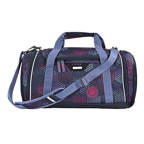 """Coocazoo Sporttasche SporterPorter """"Purple Illusion"""", lila, Nasswäschefach, Seitentasche, Schuhfach, Abnehmbarer, Verstellbarer Schultergurt, für Mädchen ab der 5. Klasse, 20 Liter"""