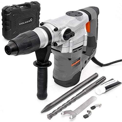 1500 Watt Bohrhammer mit SDS Max Aufnahme, Schlaghammer mit 10 Joule, Schlagbohr Leistung im Beton Ø 40mm, inkl. Koffer und umfangreiches Zubehörset