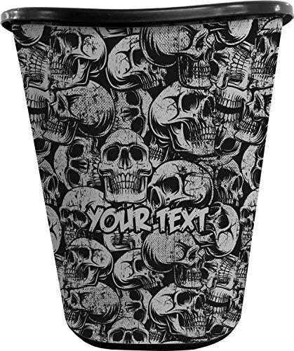 YouCustomizeIt Skulls Waste Basket - Single Sided (Black) (Personalized)