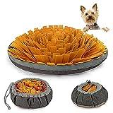 AWOOF Alfombrilla Olfativa Perros Snuffle Mat, Juguetes para Perros Alfombrilla de Entrenamiento para Perros, Alimentación de Mascotas Juguetes Interactivos para Perros Olfativos(marrón)…