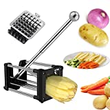 Potato Chipper, Laxus French Fry Vegetable Cutter/Dicer Machine, Includes 2 Size of Blades