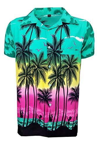KIKLO - Camisa Hawaiana Hawaiana para niños y niñas, para Fiestas de Verano, Vacaciones Dg Palm 2-3 Años