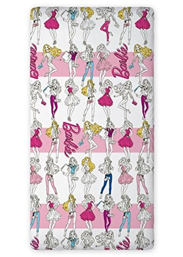 Barbie Kinder Spannbettlaken 90x200 cm (Oeko Tex Standard 100) (p1)