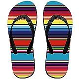 alice-shop Chanclas Unisex V Yuhulam Coloridas Rayas de Manta Mexicana Zapatillas de Verano Personalizadas