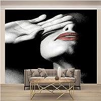 QHZSFF 3D写真壁紙壁画 女性 壁の壁画壁紙3Dアート壁画リビングルーム寝室の装飾壁装材 250 x 175cm