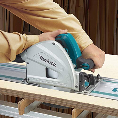 Makita SP6000J1 6-1/2 Inch Plunge Circular Saw Kit, with Stackable Tool Case and 55 Inch Guide Rail