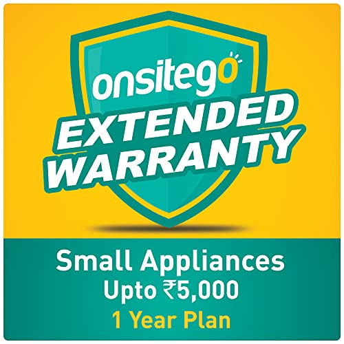 Onsitego 1 year Extended Warranty for Small Appliances up to Rs 5000 (Email Delivery – No Physical Kit)