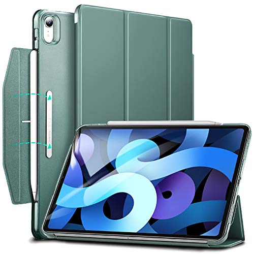 ESR Trifold Case for iPad Air 4 2020 10.9 Inch [Trifold Smart Case] [Auto Sleep/Wake Cover] [Stand Case with Clasp] Ascend Series - Forest Green