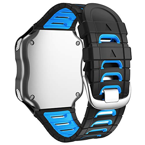 WIIKAI Correa de Repuesto para Reloj, Compatible con Garmin Forerunner 920XT, Correa de Reloj de Silicona. (Negro)…