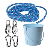 FUQUN Gartenwerkzeug-Set, Pulley with Bucket Cable, The Perfect Accessory for The Tree House,...