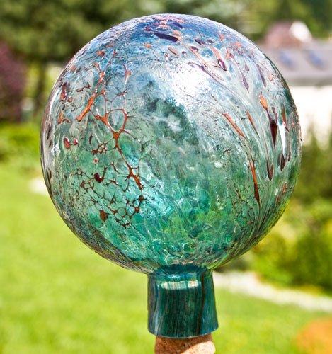 Unbekannt Gartenkugel aus Glas, Aquamarin