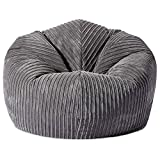 Gilda | CLASSIC Giant Adult <span class='highlight'>Bean</span>bag Soft & Comfy Gaming Jumbo Corduroy <span class='highlight'>Bean</span> Chair Filled With Virgin <span class='highlight'>Bean</span>s Beautiful Home Accessory Moulds To Shape Delivered Filled (90x90cm,Grey)