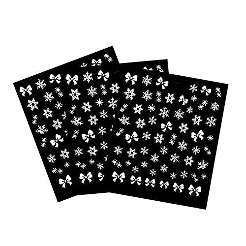 CAOLATOR.3 Feuilles Autocollants pour Ongles Nail Art Set Designs Cute Nail Art Ongles Stencil Accessories Autocollants Ongle Mode Design
