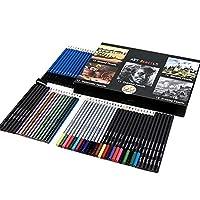 カラーボックス水溶性色鉛筆セットプロフェッショナルアート用品60枚の鉛筆スケッチ 絵画の図面 スケッチ 工芸品 大人の絵画が理想的 (Size : HB-CPCB60HB)