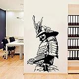ZZQQQ Samurái japonés Guerrero asiático Guerrero Espada Pegatina de Pared Vinilo decoración del hogar Sala de Estar Dormitorio calcomanía Mural extraíble 102X57CM