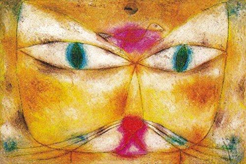 1art1 Paul Klee - Katze Und Vogel, 1928 Selbstklebende Fototapete Poster-Tapete 180 x 120 cm