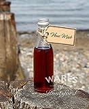 Wares of Knutsford 36 X 50ml Mini/Mini Glas Weinflaschen mit silbernen Kappen. Hochzeitsbevorzugungen, kleine Geschenke von Wein, Likören, Spirituosen und hausgemachten Getränken