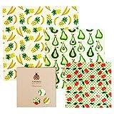 SuperBee Wax Wraps, Envoltorios de Cera de Abeja   Set de 3 Tamaños: Pequeño, Mediano y Grande. Reutilizable, Eco Friendly, Zero Waste