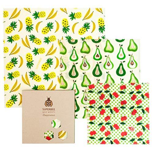 BeeswaxWraps 再利用可能なフードラップ オーガニック、エコロジー、倫理(FruitPunch)