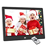 Marco de fotos digital electrónico de 10,1 pulgadas, 1024 x 600 con pantalla IPS, compatible con SD/USB, reproducción multimodo de vídeo/música, imagen 720P/1080P, con calendario/reloj