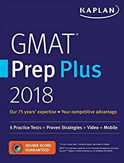 GMAT Prep Plus 2018: Practice Tests + Proven Strategies + Online + Video + Mobile Paperback