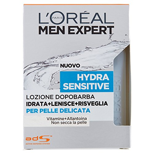L'Oréal Paris Men Expert Hydra Sensitive Lozione Dopobarba per Pelle Delicata - 100 ml
