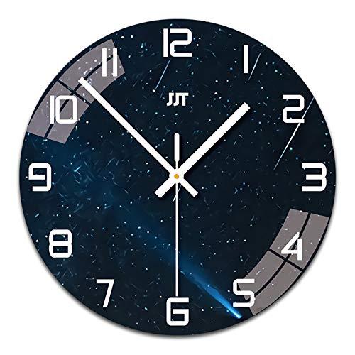 SWECOMZE Reloj de pared redondo de 29 cm, moderno, de cuarzo, sin...