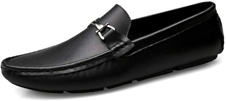 Oudan Herren Herren Herren Mokassins Schuhe, Männer Fahren Leichte Faulenzer Manual Round Toe Penny Stiefel Mokassins Gummisohle (Farbe   Braun, Größe   44 EU) (Farbe   Schwarz, Größe   41 EU)  2a86a8