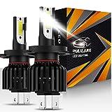 Pulilang Lampadine H4 Led, 12000LM 6500K IP65, Kit Lampada Sostituzione per Alogena Lampade e Xenon Luci, Fari Abbaglianti e Anabbaglianti per Auto,2 lampadine