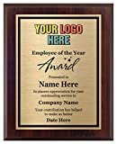 Awards4U Employee of The Year Award - Add a Logo to Your Custom Plaque 8x10 - Personalize Now!
