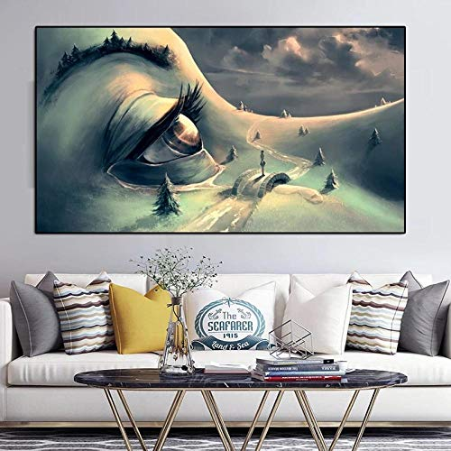 Oil Painting Abstract Poster And Print Sexy Girl Tree Painting Canvas Print Home Wall Decor Art Picture For Living Room No Frame-A_50x90cm