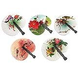 Abanico de Mano para Mujeres abanicos Plegables Hermosa Pintura Abanico de Seda portátil para Bolso Estilo Chino japonés Boda Regalos pequeño Ventilador pequeño Regalos para Mujeres