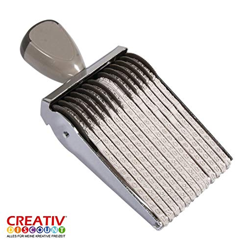 CREATIV DISCOUNT® NEU Wortbandstempel, 13 Bänder, Schrifthöhe 5mm