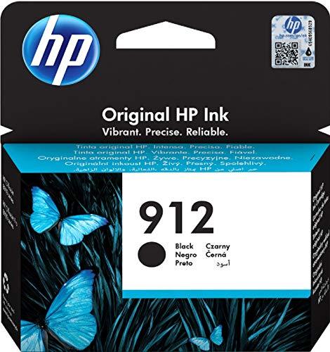 HP 912, 3YL80AE, Cartuccia Originale Standard, 300 Pagine, Compatibile con Stampanti a Getto di Inchiostro OfficeJet Pro Serie 8010 E 8020, Nero