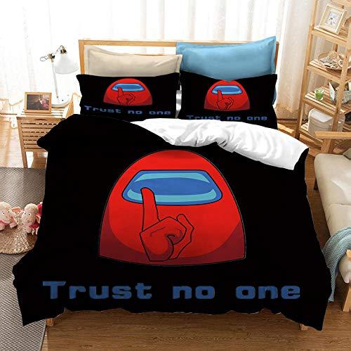 Entre los juegos casuales de EE. UU, Juego de cama con funda nórdica en 3D,cama con funda de edredón suave y cómoda para niños y adolescentes niños y niñas textiles para el hogar-N_230x260cm (3pcs)