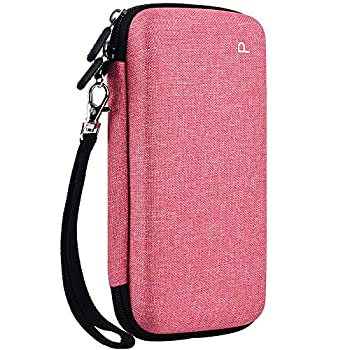 Graphing Calculator Case for Texas Instruments TI-84 Plus CE Color Graphing Calculator Also Fits for TI-83 Plus Casio fx-9750GII Large Capacity for Pens,Cables and Other Accessories-Pink