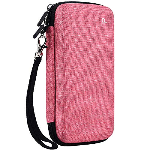 Graphing Calculator Case for Texas Instruments TI-84 Plus CE Color Graphing Calculator, Also Fits for TI-83 Plus Casio fx-9750GII, Large Capacity for Pens,Cables and Other Accessories-Pink