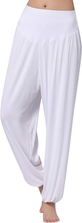 OMZIN Womens Modal Cotton Max 82% OFF Max 75% OFF Loose Soft Yoga Dance Harem Pan Sports