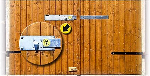 Garagenriegel Sicherheitsriegel 120mm inkl. BKS-Zylinderschloss