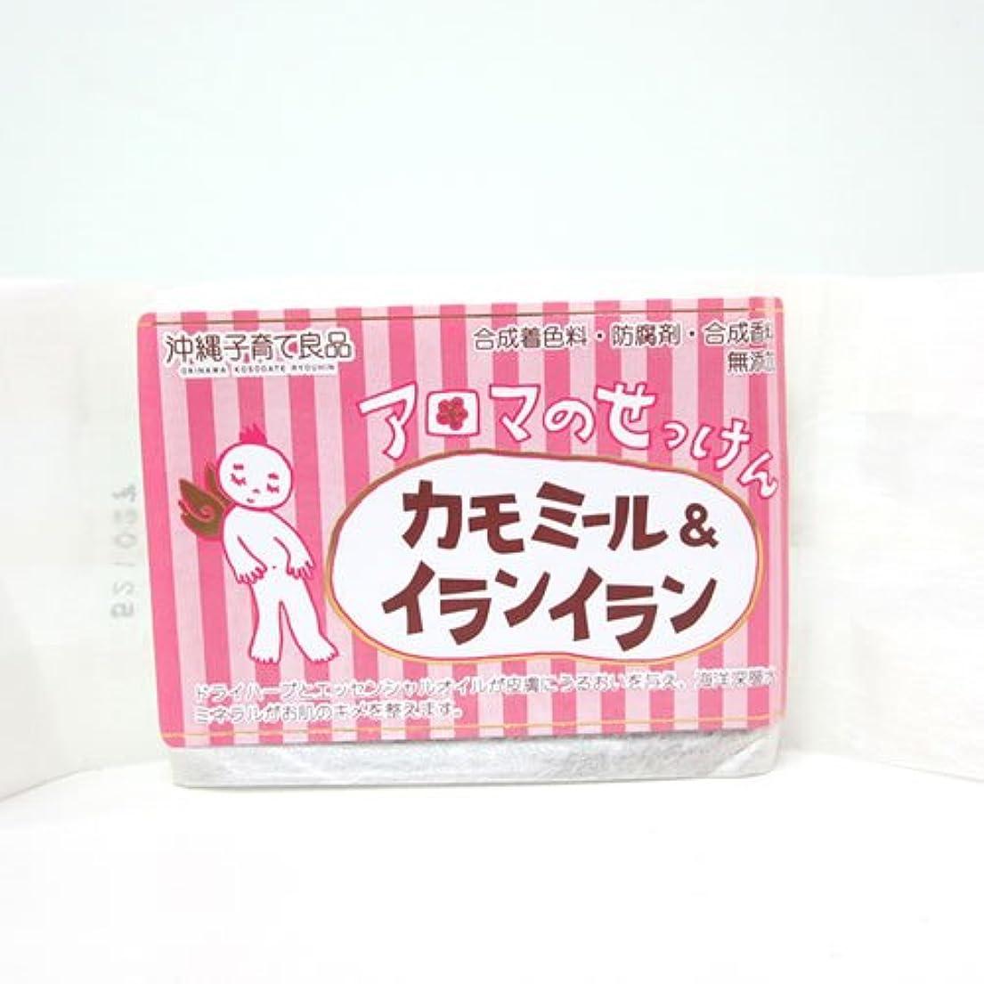 当社トン抵抗する沖縄子育て良品 アロマのせっけん カモミール (100g)