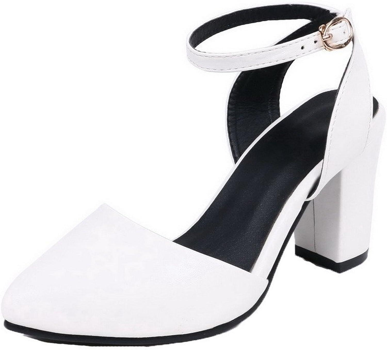 Amonymode Woherrar Closed -Toe -Toe -Toe High klackar Pu Solid Sandals  försäljningsstället