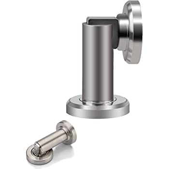 Color : 12cm Ln Lengthen Stainless Steel Magnetic Door Stop Stopper Holder Catch Floor Fitting with Screws for Bedroom Family Home Etc 12cm