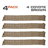 Arcturus 47' Silicone-Treated Gun Socks - Extra-Wide Rifle Socks Fit Scopes, Pistol Grips and Tactical Accessories (Coyote Brown 4-Pack)
