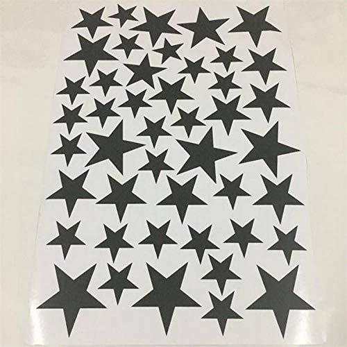 TIVOPA 45/24 Pcs Cartoon Starry Stickers Muraux pour Enfants Chambres Home Decor Little Stars Vinyle Stickers Muraux Bébé Nursery Art Mural Autocollant