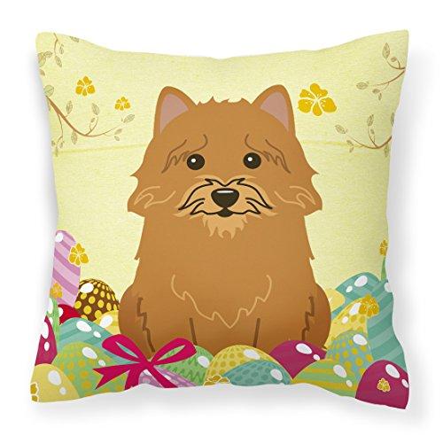 Caroline tesoros del bb6020pw1818huevos de Pascua Norwich Terrier tela almohada decorativa, 18x 18cm, multicolor